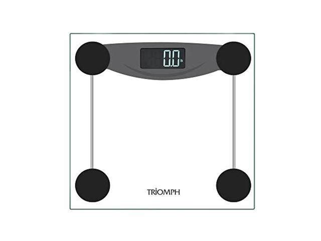 triomph smart digital body weight bathroom scale with step-on technology, lcd backlit display, 400 lbs capacity and accurate weight measurements. (613706360295 Health & Beauty Health Care Biometric Monitors Body Weight Scales) photo
