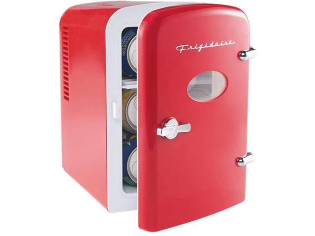 Frigidaire RED Mini Portable Fridge Cooler, 4 Liter Capacity Chills Six 12 oz Cans, , Includes Plugs for Home Outlet & 12V Car Charger Red photo