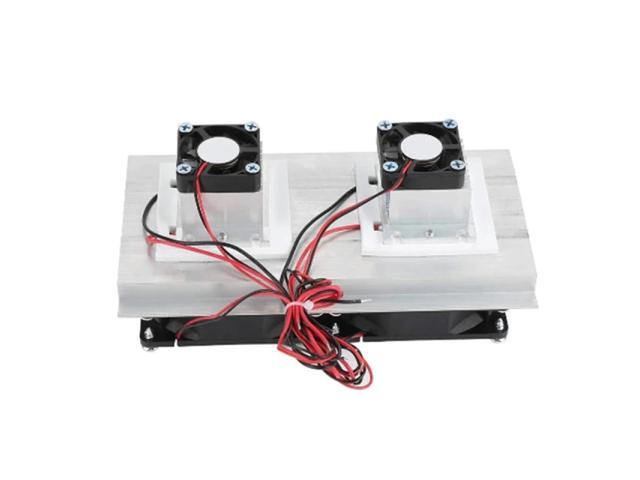 Thermoelectric Refrigeration Cooler DC12V Semiconductor Air Conditioner Dual Fan Cooling System Accessories DIY photo