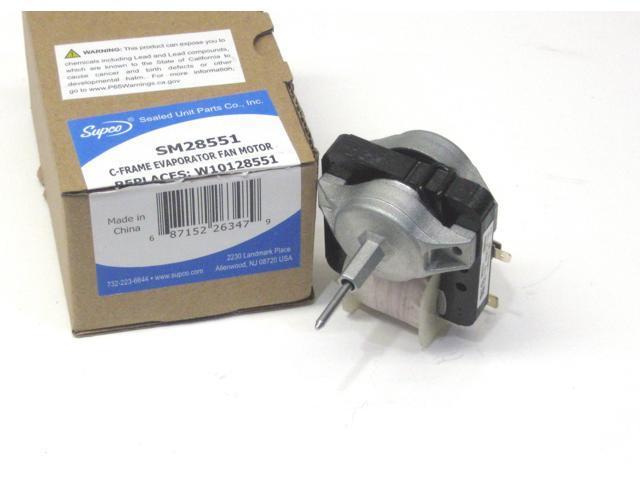 Supco SM28551 Refrigerator Freezer Fan Motor for Whirlpool W10128551 WPW10128551 photo