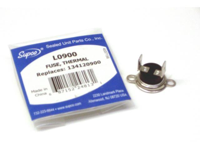 Supco L0900 Dryer Thermal Fuse Replaces Electrolux 134120900 photo