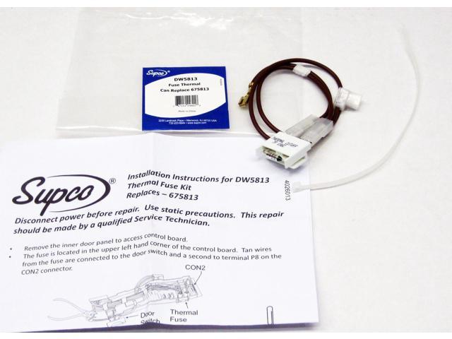 Supco DW5813 for 675813 Whirlpool Dishwasher Thermal Fuse Link photo