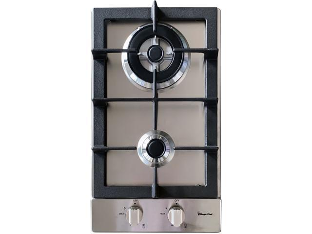 Magic Chef 12-In. Built-In Gas Cooktop in Stainless Steel with 2 Sealed Burners, MCSCTG12S photo