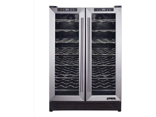 Magic Chef 24-In. French Door Wine and Beverage Cooler with Dual-Zone Cooling, MCWBC24DZ1 photo
