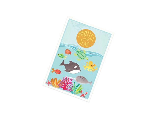 Protect Our Seas 24X18 Print, Children'S Wall Art, Kid' Room Decor, Nursery DãCor, Travel Themed Nursery, Nursery Wall Art, Kid'S Art, Kid'S Decor. photo