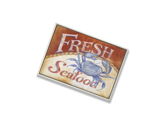 Stupell Home DãCor Fresh Seafood Blue Crab Rect Wall Plaque, 10 X 0.5 X 15, Proudly Made In Usa photo