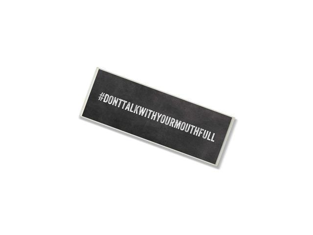 Stupell Home DãCor Tag # 'Donttalkwithyourmouthfull' Kitchen Wall Plaque, 7 X 0.5 X 17, Proudly Made In Usa photo