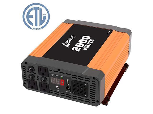 2000W Power Inverter 3 AC Outlets DC 12V to 110V AC Car Converter 2.1A USB Inverter photo