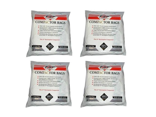(60) Jenn Air Trash Compactor Bags with Holes - 15' Plastic - NEW photo