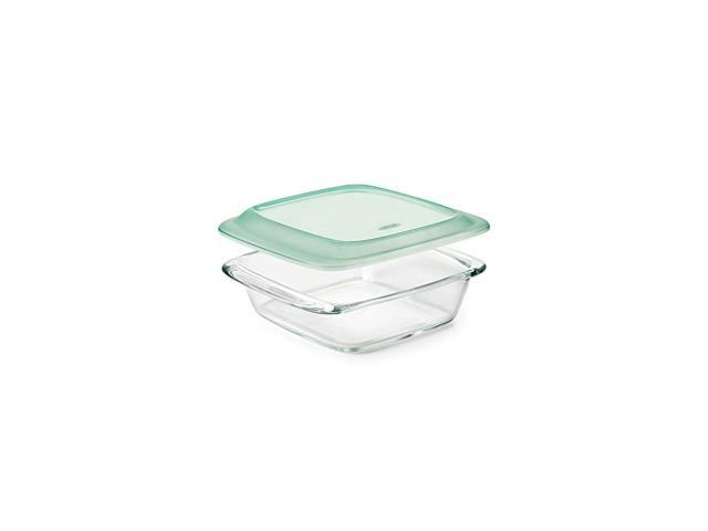 Good Grips Freezer-to-Oven Safe 2 Qt Glass Baking Dish with Lid photo