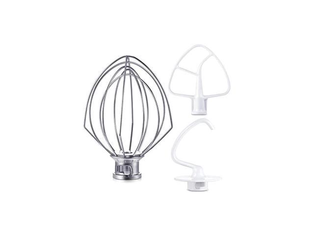 Mixer Kit Includes K45DH Dough Hook, K45WW Wire Whip, K45B Coated Flat Blade Paddle with Scraper, 3 Pieces Stand Mixers Repair Set Fits for Some. photo