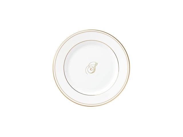 Federal Gold Script Monogram Dinnerware Bread/Butter Plate, S photo