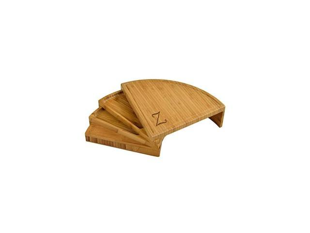 Patented Personalized Monogrammed Engraved Bamboo Cheese/Charcuterie Board with Cheese Knives- Designed & Quality Checked in the USA photo