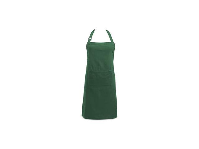 Adjustable Neck & Waist Ties with Front Pocket, 32x28 Apron Chino Chef Collection, Dark Green photo