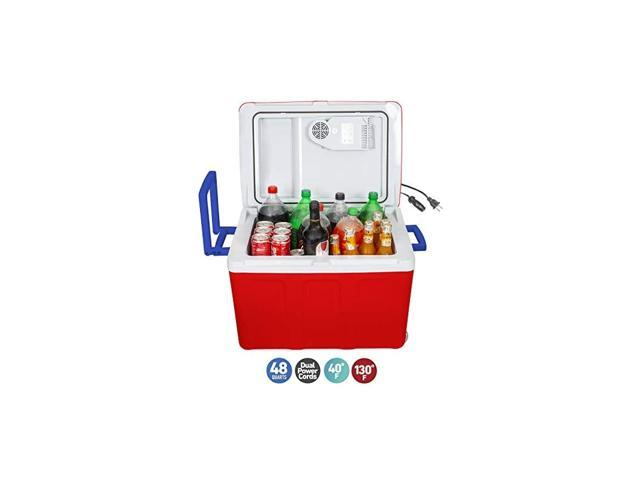 Electric Cooler and Warmer with Wheels for Car and Home - 48 Quart (45 Liter) - 6 FT. EXTRA Long Cables Dual 110V AC House and 12V DC Vehicle Plugs. photo