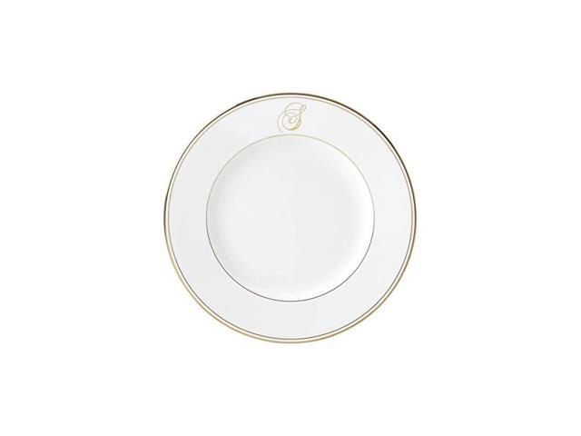 Federal Gold Script Monogram Dinnerware Dinner Plate, S photo