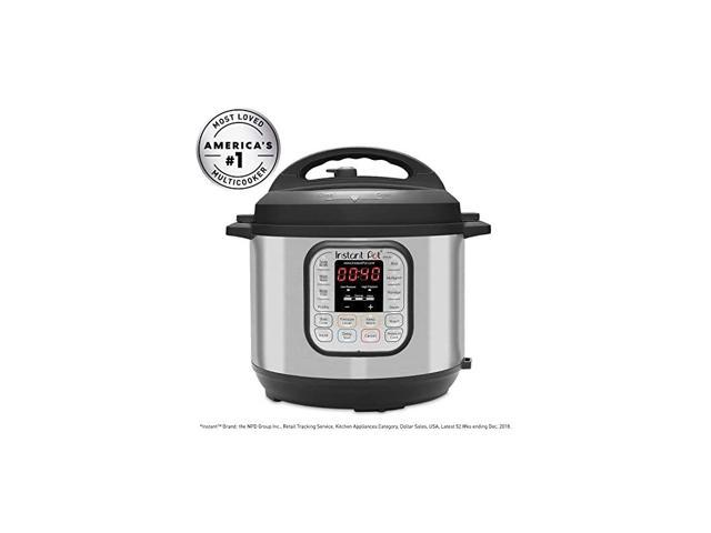 Duo 7-in-1 Electric Pressure Cooker, Slow Cooker, Rice Cooker, Steamer, Saute, Yogurt Maker, Sterilizer, and Warmer, 6 Quart, 14 One-Touch Programs photo