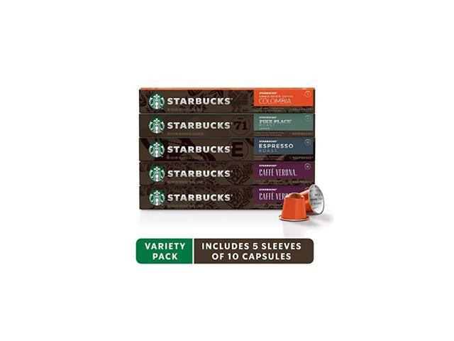 by Nespresso, Intense Variety Pack (50-count single serve capsules, 10 of each flavor, compatible with Nespresso Original Line System) photo