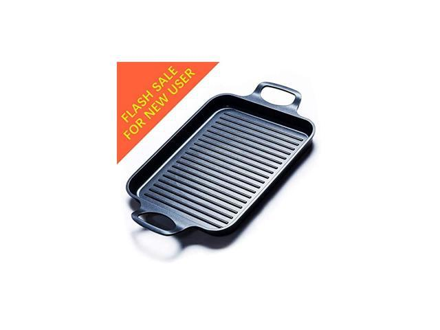 Stove Top Grill Pan, Grill Top Stove Griddle, Induction Grill Pan, Electric Stove Griddle, Grill Top for Stove, Oven & Dishwasher Safe, 13 x 10.6 x. photo