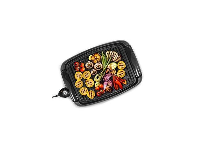 Gourmet EGL-3450 Smokeless Indoor Electric BBQ Grill with Glass Lid Dishwasher Safe, PFOA-Free Nonstick, Adjustable Temperature, Fast Heat Up. photo