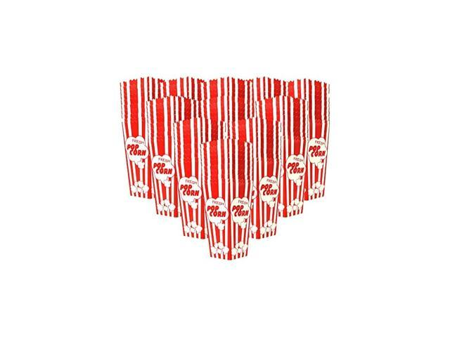 Top Rated 110 Popcorn Boxes 7.75 Inches Tall & Holds 46 Oz Old Fashion Vintage Retro Design Red & White Colored Nostalgic Carnival Stripes like. photo