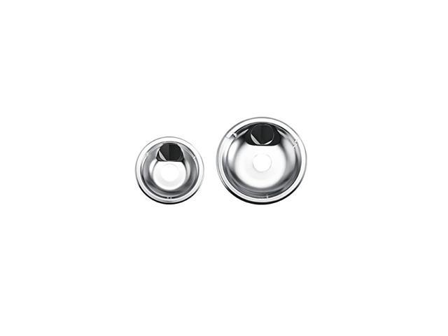 Classic Universal Stovetop Drip Pans, 6-Inch and 8-Inch, Chrome, Set of 2 photo