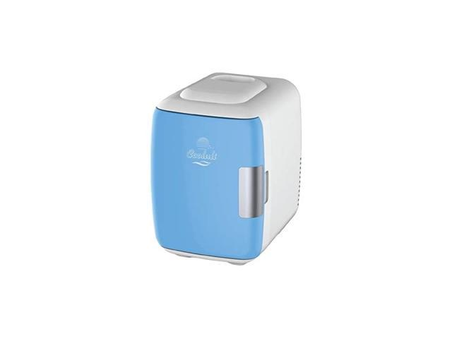 Mini Fridge Electric Cooler and Warmer (4 Liter / 6 Can): AC/DC Portable Thermoelectric System w/ Exclusive On the Go USB Power Bank Option (Blue) photo