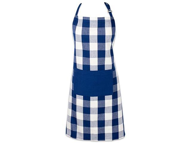 Cotton Adjustable Buffalo Check Plaid Apron with Pocket & Extra-Long Ties, 32 x 28', Men and Women Kitchen Apron for Cooking, Baking, Crafting. photo