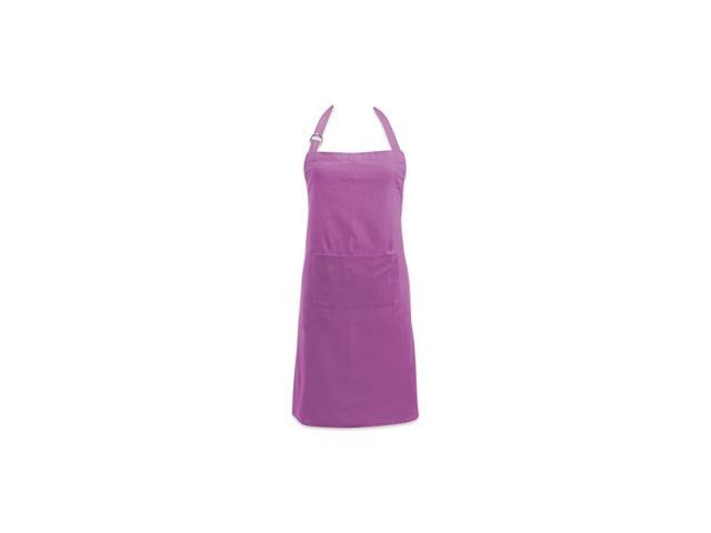 Adjustable Neck & Waist Ties with Front Pocket, 32x28 Apron Chino Chef Collection, Orchid photo