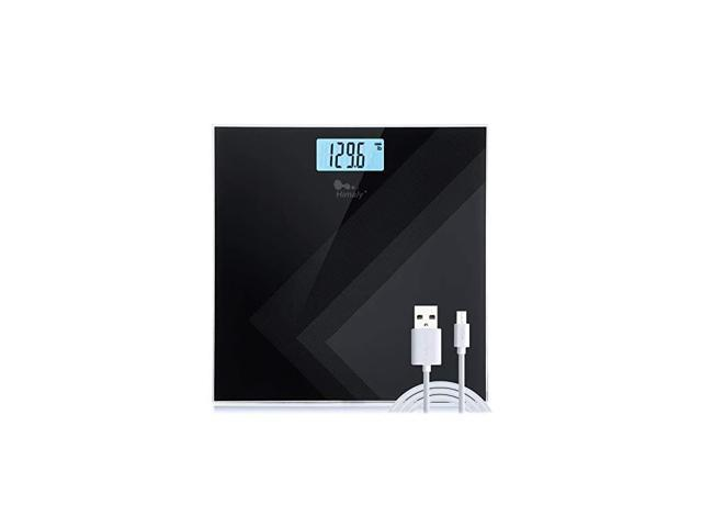 Digital Body Weight Scale, USB Rechargeable Bathroom Scale with Step-On Technology, Backlight Display, High Precision Measurements, 400Ibs/180kg. (Health & Beauty Health Care Biometric Monitors Body Weight Scales) photo