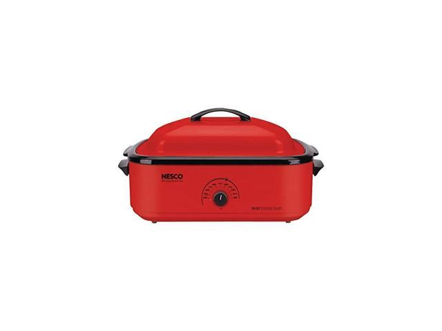 4818-12, Classic Roaster Oven with Porcelain Cookwell, Red, 18 quart, 1425 watts photo