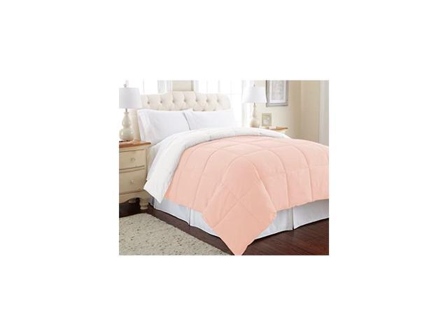 Threads Down Alternative Microfiber Quilted Reversible Comforter/Duvet Insert Ultra Soft Bedding-Medium Warmth for All Seasons, Full/Queen. photo