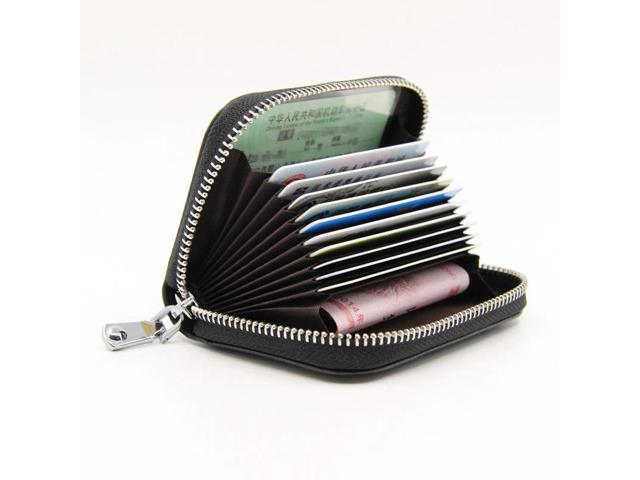 Fashion Anti Rfid Credit Card Holder rgan Unisex Wallet Multifunction Zipper Blocking Reader Lock Bank Card Holder Coins Purse (Electronics Computer Components Input Devices Memory Card Readers) photo