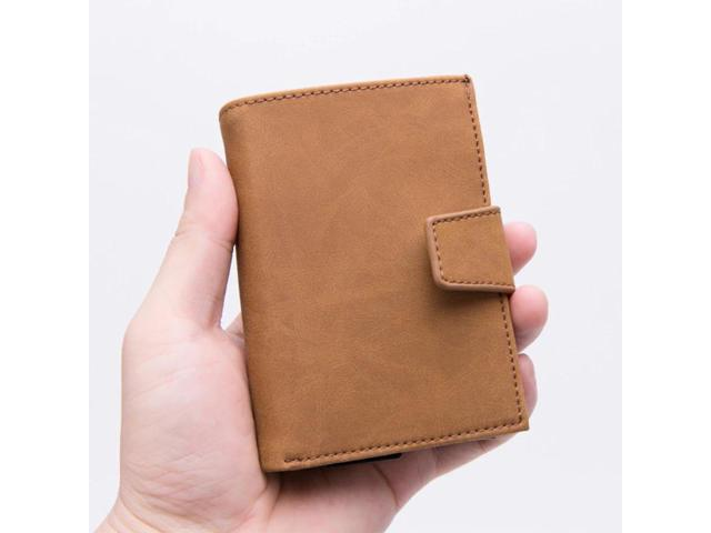 Fashion Large Capacity Rfid Wallet Men's Purse Blocking Reader Lock Bank Card Holder Multifunctional Card Box Credit Card Holder (Electronics Computer Components Input Devices Memory Card Readers) photo