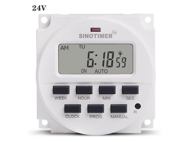 SINOTIMER TM618sH Interval Power Supply 7 Days Weekly Programmable Digital Electronic Lighting Daily Timer Switch photo