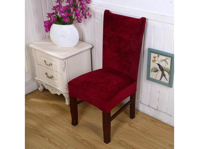 Ultra-soft Faye velvet thickened plus velvet warm chair cover fabric stool cover elastic chair back cover chair cover seat cover # 4 - Four (Home & Garden Decor) photo