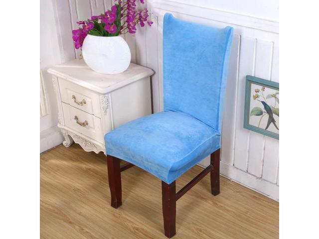 Ultra-soft Faye velvet thickened plus velvet warm chair cover fabric stool cover elastic chair back cover chair cover seat cover # 12 - twelve (Home & Garden Decor) photo