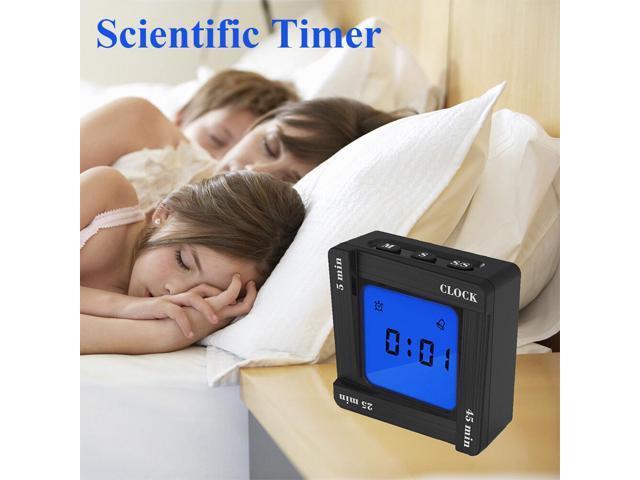 LED Creative Fashion Digital Timer Electronic Kitchen Home Alarm Clock White/ Black - White photo