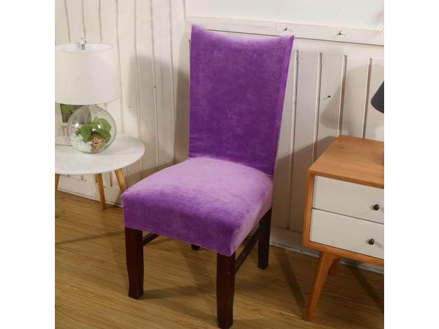 Ultra-soft Faye velvet thickened plus velvet warm chair cover fabric stool cover elastic chair back cover chair cover seat cover # 13 - thirteen (Home & Garden Decor) photo