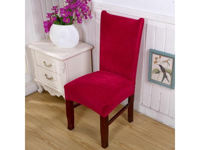 Ultra-soft Faye velvet thickened plus velvet warm chair cover fabric stool cover elastic chair back cover chair cover seat cover # 16 - sixteen (Home & Garden Decor) photo