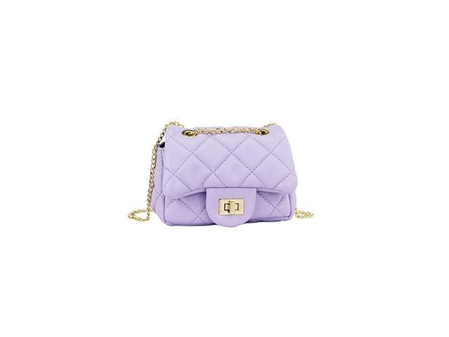Glitter Toddler Purse for Girls Sparkly Quilted Little Girl Purses Lambskin purple (Baby & Toddler) photo
