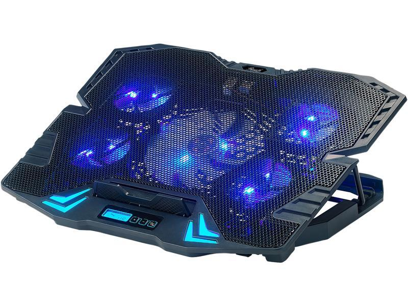 Cooling Pad For 17 Inch Laptop USB Hub Gaming Fans Blue LED Light Stand Mats New