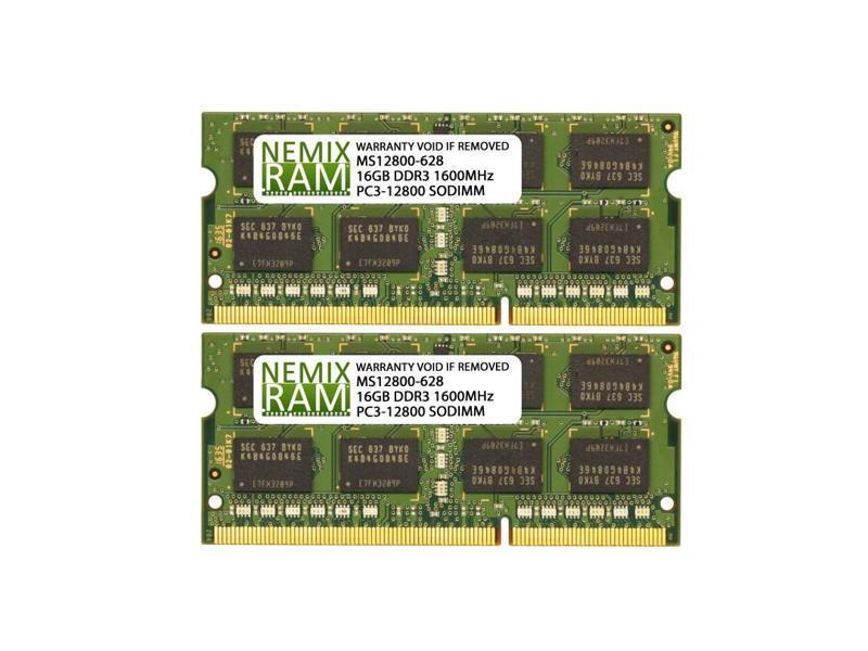 16GB 2x8GB PC3L-12800s DDR3-1600MHz 2Rx8 Non-ECC Micron MT16KTF1G64HZ-1G6N1