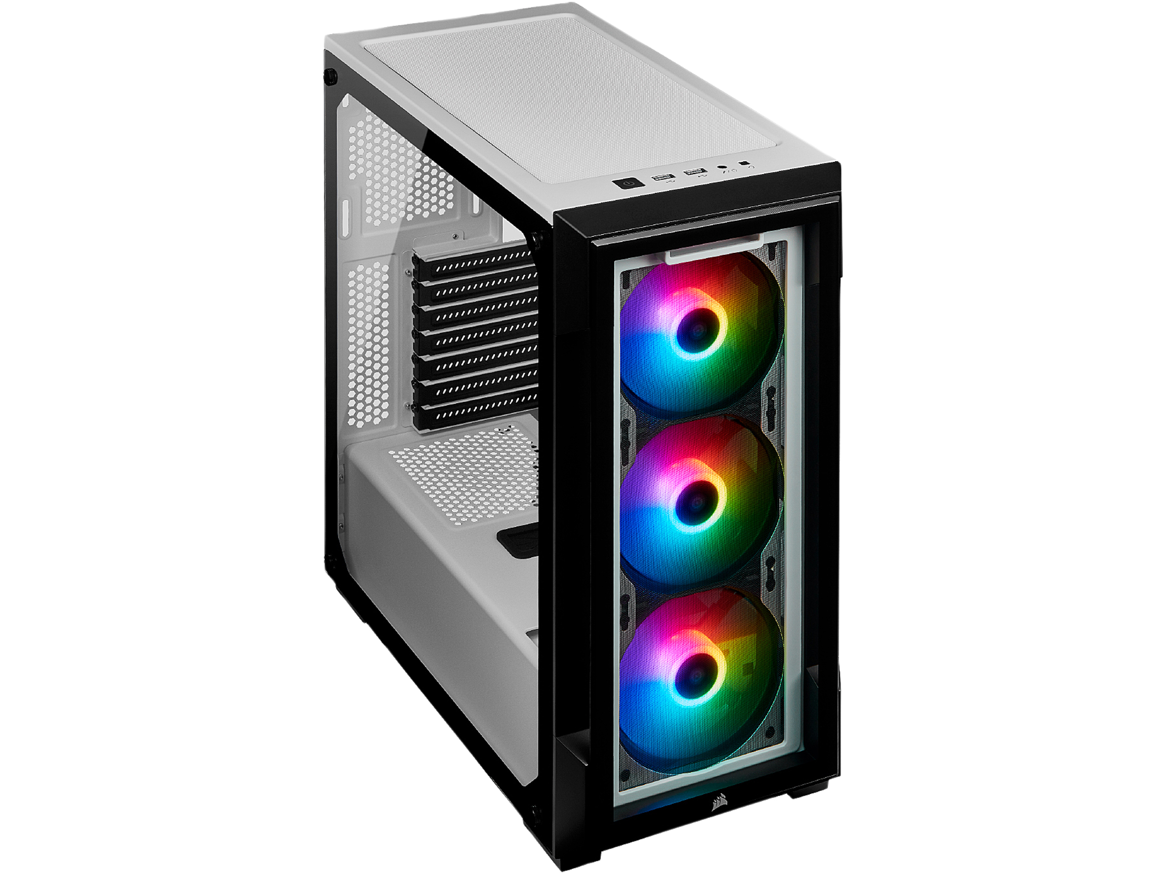 CORSAIR iCUE 220T RGB Tempered Glass Mid Tower Computer Smart Case