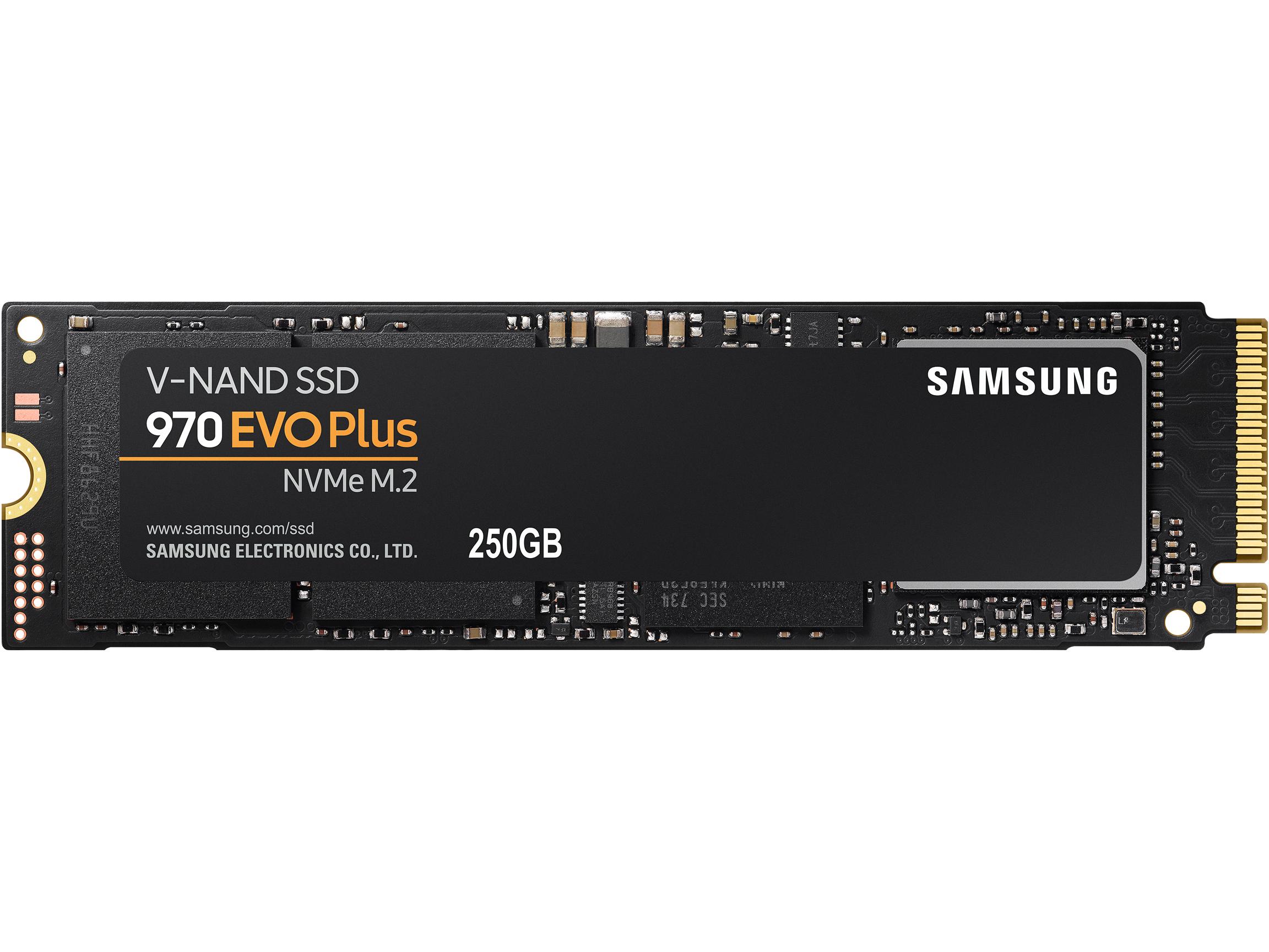 SAMSUNG 970 EVO PLUS M.2 2280 250GB PCIe Gen 3.0 x4, NVMe V-NAND Internal Solid State Drive (SSD) MZ-V7S250B/AM