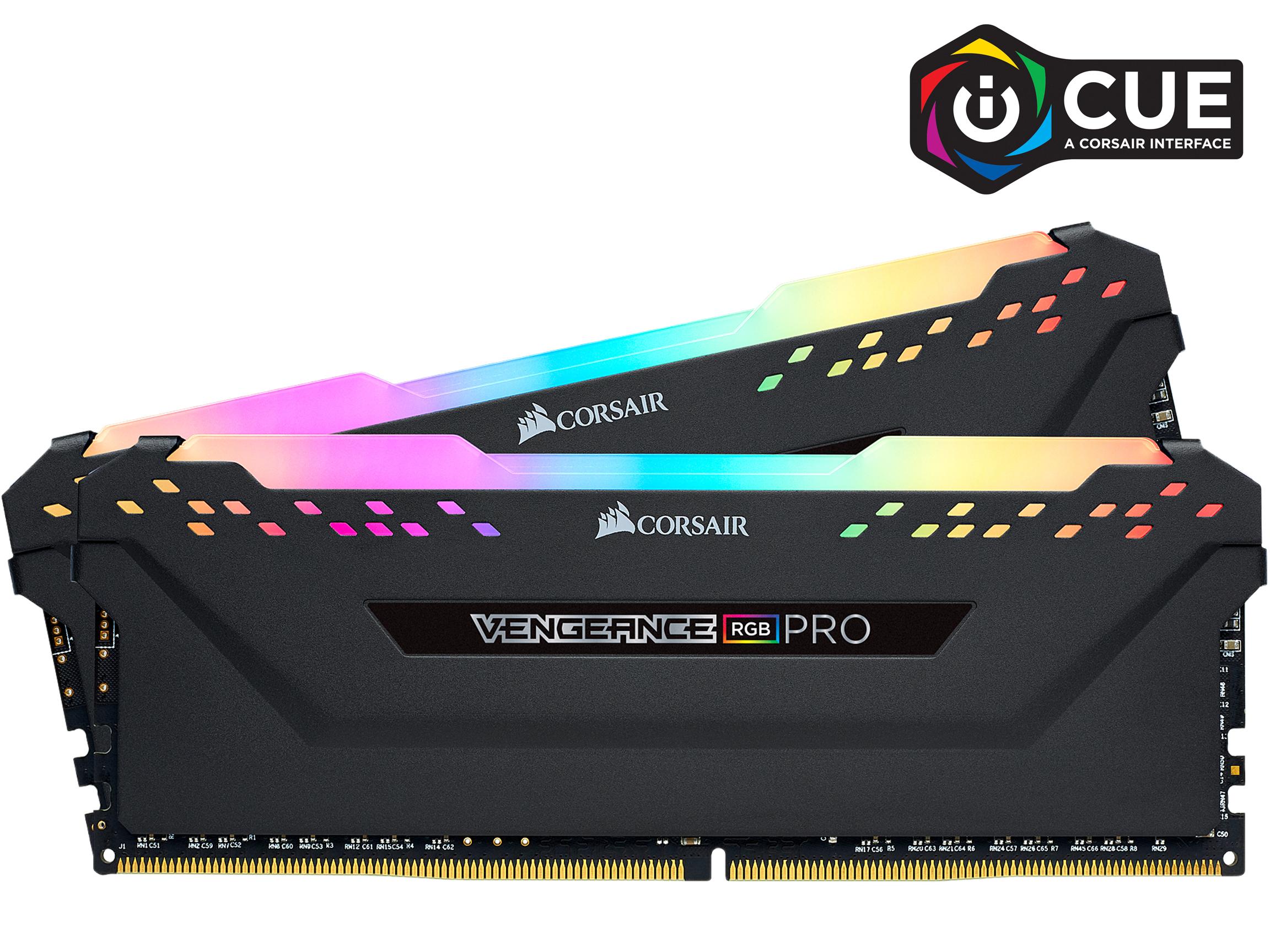 corsair Vengeance RGB Pro 32GB (2 x 16GB) 288-Pin DDR4 SDRAM DDR4 3600 Intel XMP 2.0 Memory CMW32GX4M2Z3600C18