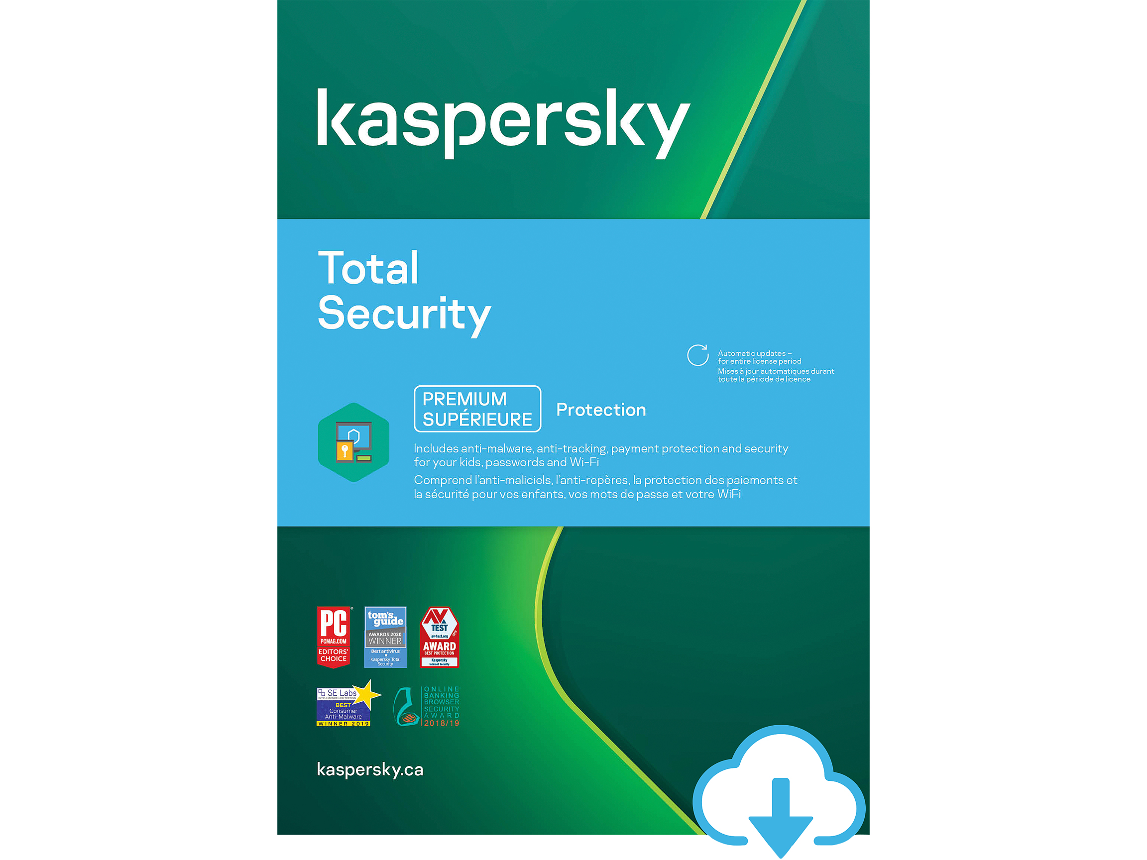 Kaspersky Total Security - 1 Year, 5 Devices, PC/Mac (Download)