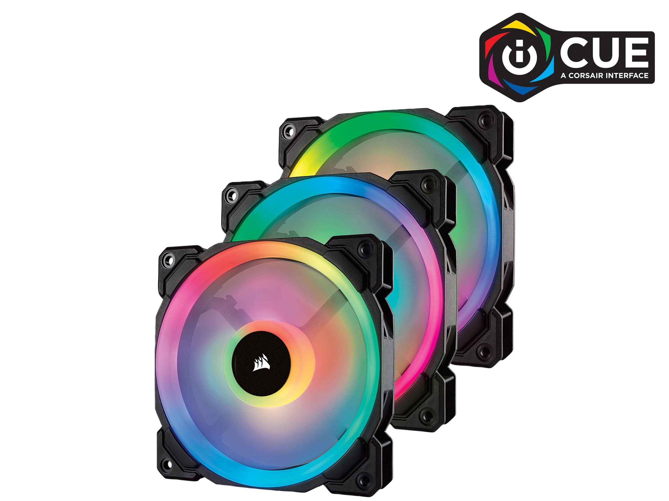 Corsair LL Series LL120 RGB LED PWM 3 Fan Pack CO-9050072-WW