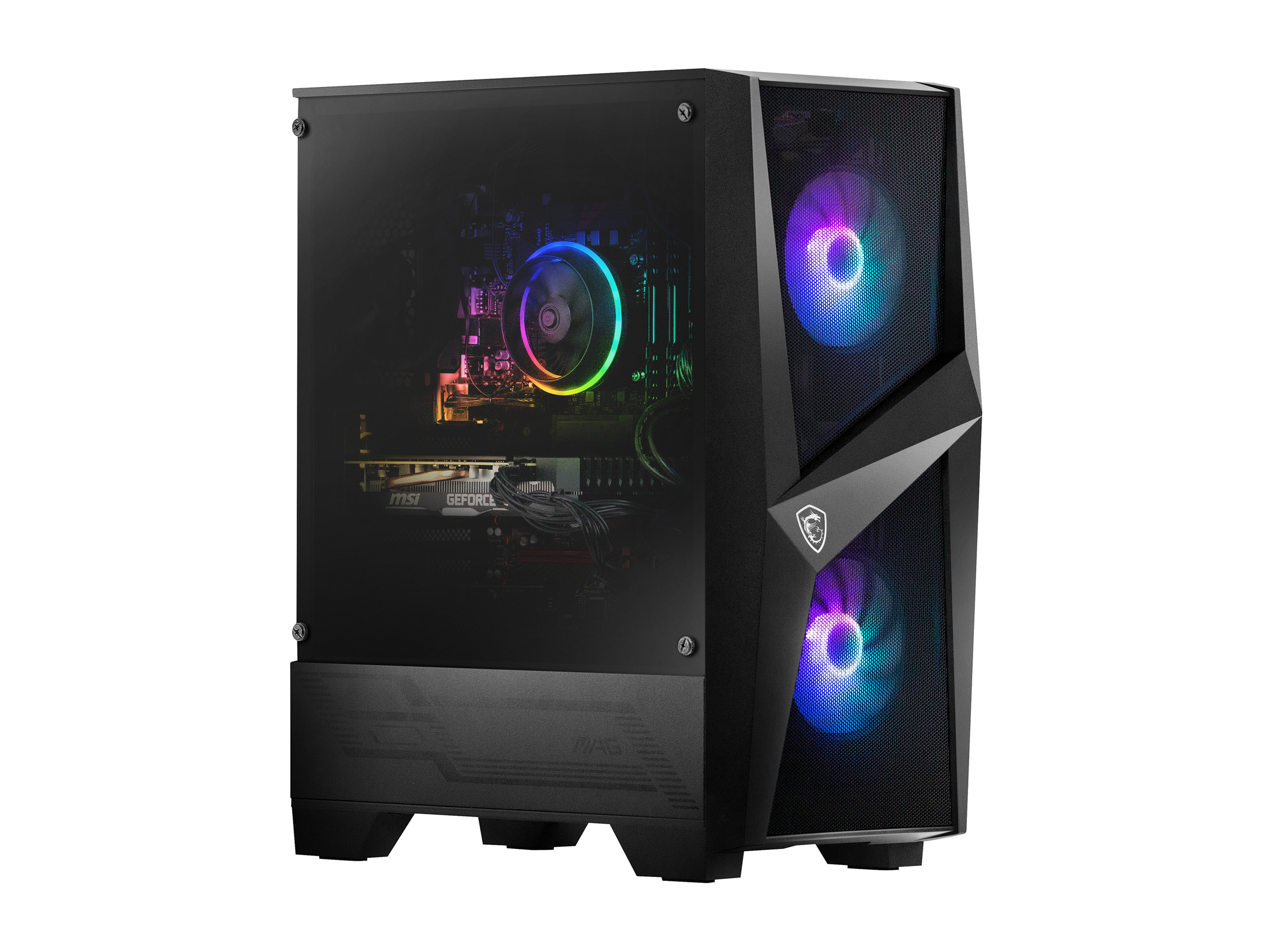 MSI Codex R Intel Core i7-10700F NVIDIA GeForce RTX 2060 16 GB DDR4 1TB HDD 512GB SSD Win 10 Home Gaming Desktop, 10SC-005CA, Keyboard & Mouse