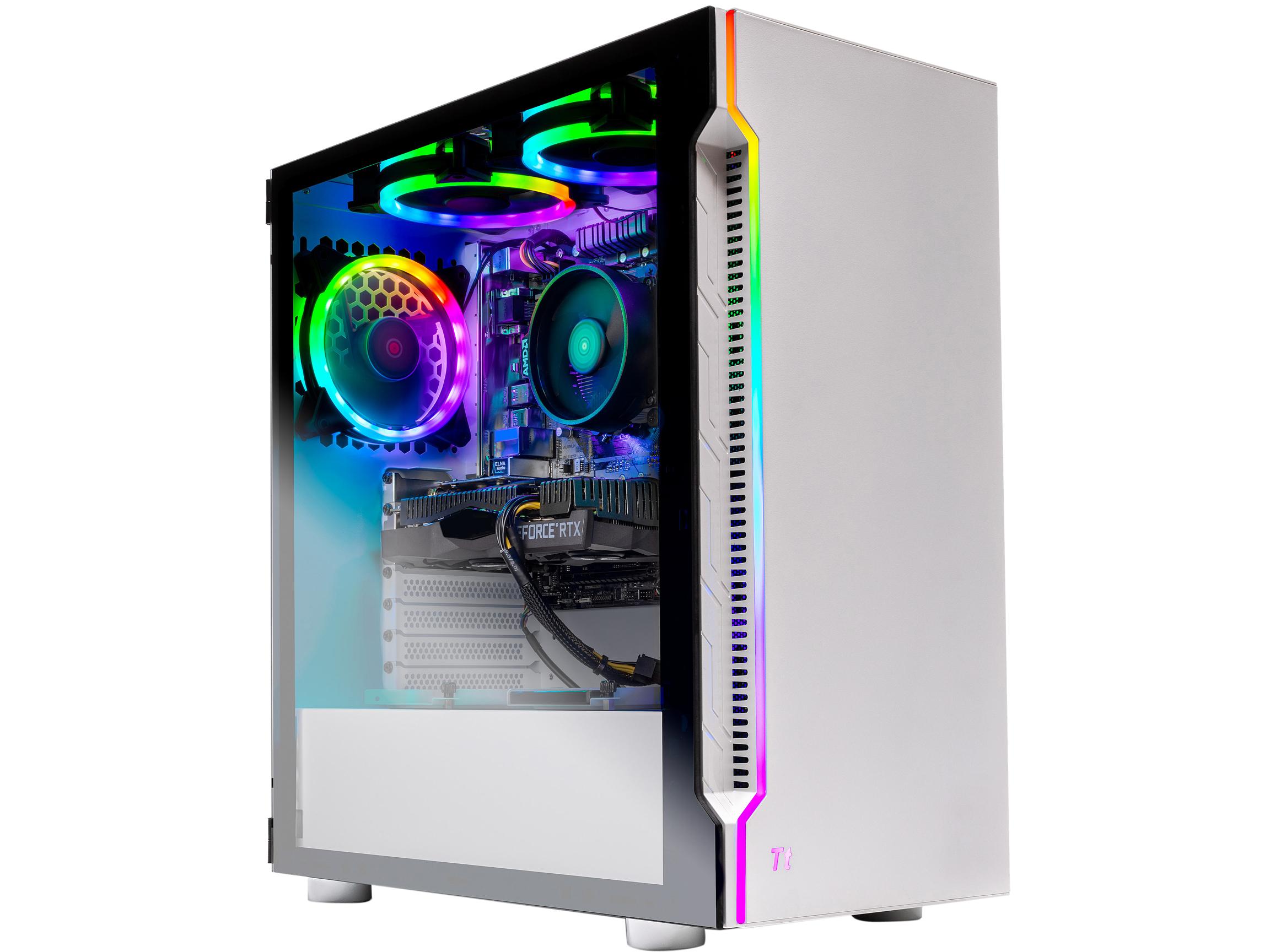SkyTech Archangel AMD Ryzen 5 3600 NVIDIA GeForce RTX 2060 16GB DDR4 500GB SSD Win 10 Home Gaming Desktop, ST-Arch3.0-0056-NE